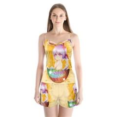 Easter Bunny Furry Satin Pajamas Set