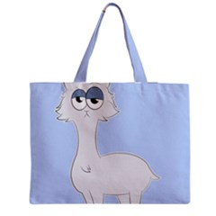 Grumpy Persian Cat Llama Medium Zipper Tote Bag