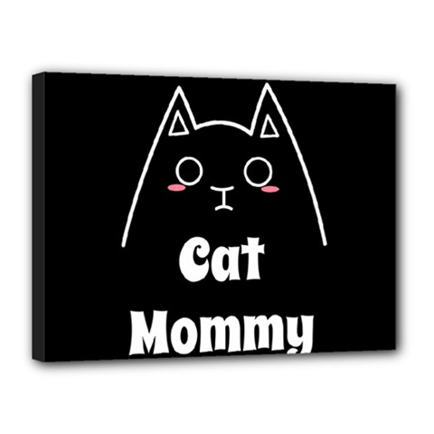 Love My Cat Mommy Canvas 16  X 12