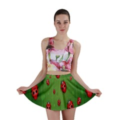 Ladybugs Red Leaf Green Polka Animals Insect Mini Skirt