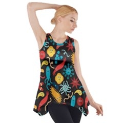 Worm Insect Bacteria Monster Side Drop Tank Tunic