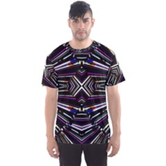 Dark Ethnic Sharp Bold Pattern Men s Sport Mesh Tee