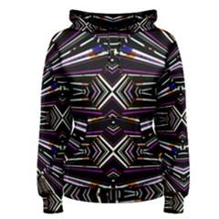 Dark Ethnic Sharp Bold Pattern Women s Pullover Hoodie