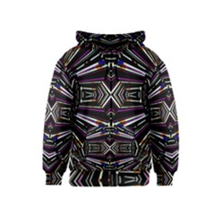 Dark Ethnic Sharp Bold Pattern Kids  Zipper Hoodie