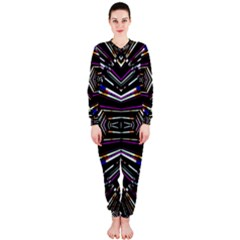 Dark Ethnic Sharp Bold Pattern OnePiece Jumpsuit (Ladies)