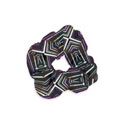 Dark Ethnic Sharp Bold Pattern Velvet Scrunchie