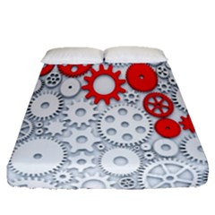 Iron Chain White Red Fitted Sheet (queen Size)
