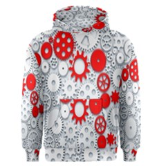 Iron Chain White Red Men s Pullover Hoodie