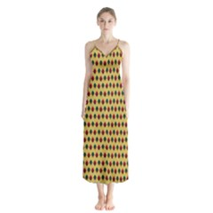 Points Cells Paint Texture Plaid Triangle Polka Chiffon Maxi Dress