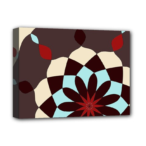 Red And Black Flower Pattern Deluxe Canvas 16  X 12