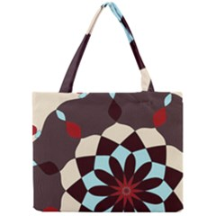 Red And Black Flower Pattern Mini Tote Bag