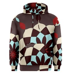 Red And Black Flower Pattern Men s Pullover Hoodie