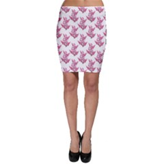 Colorful Cute Floral Design Pattern Bodycon Skirt