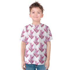 Colorful Cute Floral Design Pattern Kids  Cotton Tee