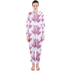 Colorful Cute Floral Design Pattern Hooded Jumpsuit (Ladies)