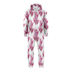 Colorful Cute Floral Design Pattern Hooded Jumpsuit (Kids)