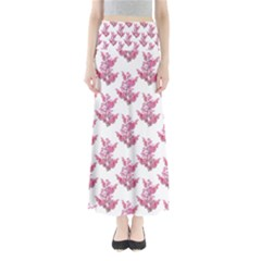 Colorful Cute Floral Design Pattern Maxi Skirts