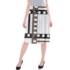 Frame Decorative Movie Cinema Midi Beach Skirt