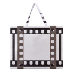 Frame Decorative Movie Cinema Zipper Large Tote Bag