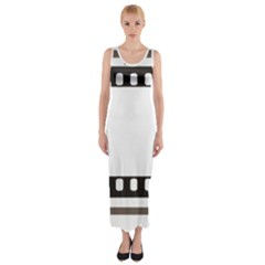 Frame Decorative Movie Cinema Fitted Maxi Dress