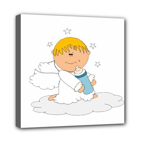Angel Baby Bottle Cute Sweet Mini Canvas 8  X 8