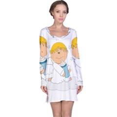 Angel Baby Bottle Cute Sweet Long Sleeve Nightdress