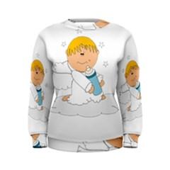 Angel Baby Bottle Cute Sweet Women s Sweatshirt