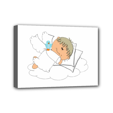 Sweet Dreams Angel Baby Cartoon Mini Canvas 7  x 5