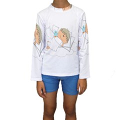 Sweet Dreams Angel Baby Cartoon Kids  Long Sleeve Swimwear