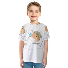 Sweet Dreams Angel Baby Cartoon Kids  Sport Mesh Tee