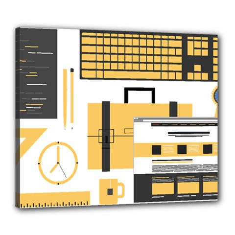 Web Design Mockup Web Developer Canvas 24  X 20
