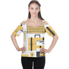 Web Design Mockup Web Developer Women s Cutout Shoulder Tee