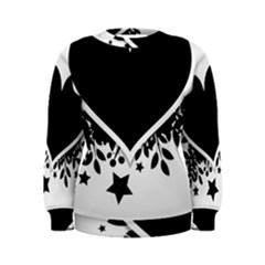 Silhouette Heart Black Design Women s Sweatshirt