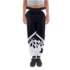 Silhouette Heart Black Design Women s Jogger Sweatpants
