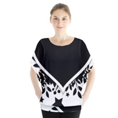 Silhouette Heart Black Design Blouse