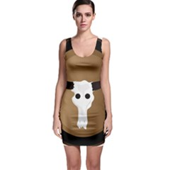 Logo The Cow Animals Sleeveless Bodycon Dress