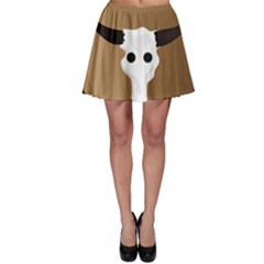 Logo The Cow Animals Skater Skirt