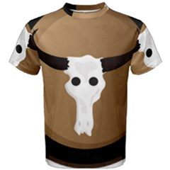 Logo The Cow Animals Men s Cotton Tee