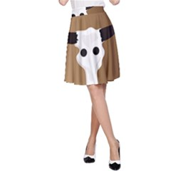 Logo The Cow Animals A-Line Skirt
