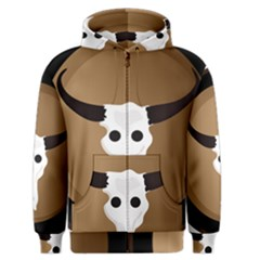 Logo The Cow Animals Men s Zipper Hoodie