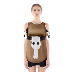Logo The Cow Animals Shoulder Cutout One Piece