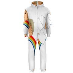 Angel Rainbow Cute Cartoon Angelic Hooded Jumpsuit (Men)