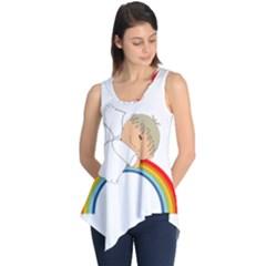 Angel Rainbow Cute Cartoon Angelic Sleeveless Tunic