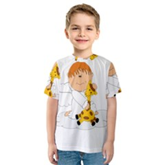 Pet Giraffe Angel Cute Boy Kids  Sport Mesh Tee