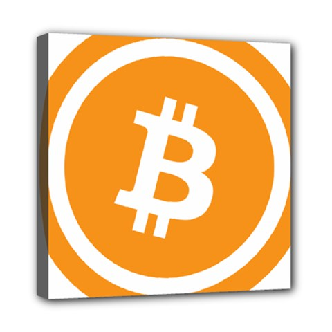 Bitcoin Cryptocurrency Currency Mini Canvas 8  x 8