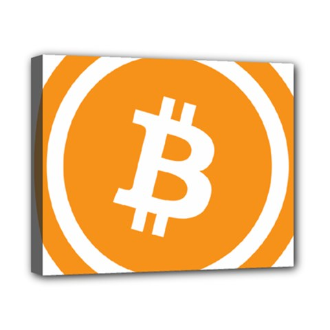 Bitcoin Cryptocurrency Currency Canvas 10  x 8