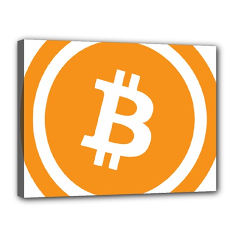 Bitcoin Cryptocurrency Currency Canvas 16  X 12