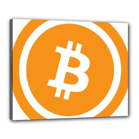 Bitcoin Cryptocurrency Currency Canvas 20  X 16