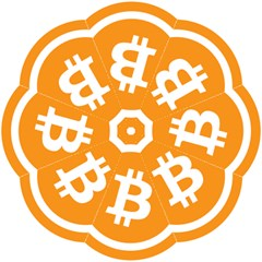 Bitcoin Cryptocurrency Currency Straight Umbrellas