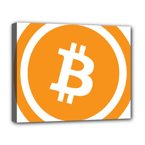 Bitcoin Cryptocurrency Currency Deluxe Canvas 20  X 16